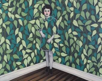 Tangled In The Corner - Fine Art Print of Original Painting