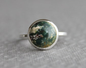 Jasper Sterling Ring Statement ring, Fancy Jasper - Size 7 US/CANADA