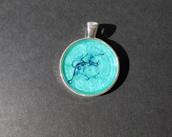 Teal Pendant - Small
