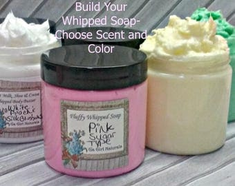 Build Your Own Whipped Soap, Choose Scent, Choose Color, Fluffy Cream Soap, 4 Oz., 53 Fragrances To Choose From