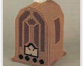 Plastic Canvas Tissue Cover Pattern - 1930s Radio Design - Pattern 70021726