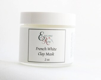 French White Clay Mask - Hydrating Clay Mask - Natural Facial Mask