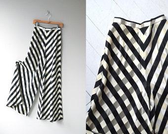 Deauville palazzo pants | vintage 1970s wide leg pants | 70s palazzo pants