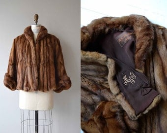 Sable Fur coat | vintage 1940s fur coat | short 40s fur coat