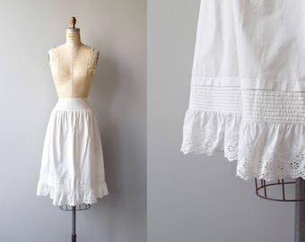Petticoat Skirt | antique 1910s skirt | Edwardian white cotton skirt