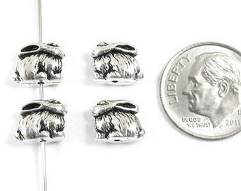 TierraCast Pewter Rabbit Beads-ANTIQUE SILVER BUNNY (4)