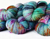 Impressionist 463 yards on merino Posh Sock Yarn/ 4 ply 75/25 wool hand painted
