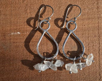 Sterling silver and Herkimer Diamond Quartz Earrings