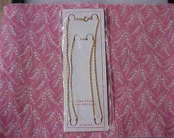 Vintage 20 inch 12kt Gold Filled Flat Chain Necklace NOS