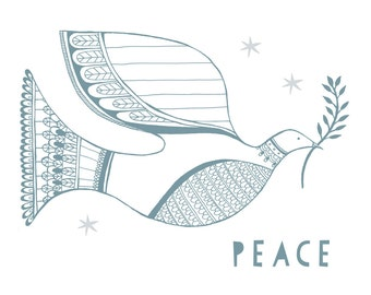 Peace Dove Holiday card set.