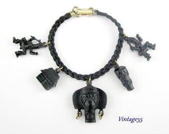 Vintage African Charm Bracelet
