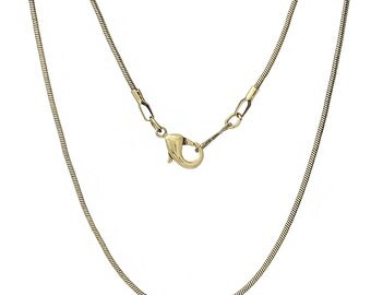 Snake Chain - Antique Brass/Bronze - 24 inch with lobster clasp