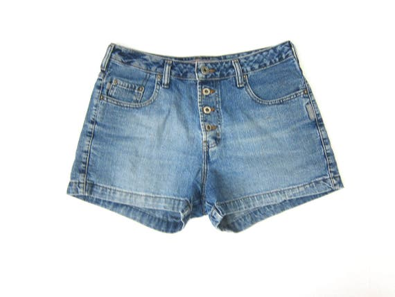 Vintage Silver Tab jean shorts 90s Faded Washed out Blue denim shorts Grunge Shorts Short Shorts Womens size 29