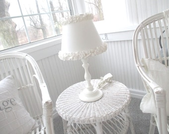 Vintage Lamp * Shabby Chic * Cottage * Ruffles