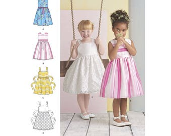 GIRLS CLOTHES PATTERN / Make Fancy Party - Church - Flower Girl Dress / Sizes 3 to 8