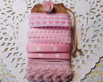 Sewing Ribbon or Trim Pink - Five Yards