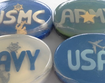 Military Soap, choice of armed force and scent