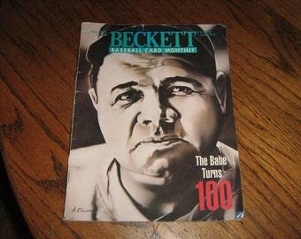 1995 Beckett baseball card monthly magazine the Babe turns 100