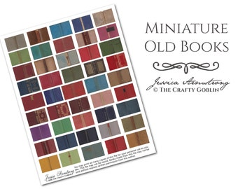 Miniature Old Books Downloadable PDF