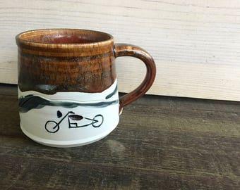 Moto Mug - Cruiser - Motorcycle - Chopper, Bobber - Mountain Mug - Desert - Tea Cup - Coffee Mug - Espresso - Camping, Travel Mug