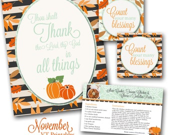 November Visiting Teaching Message Printables