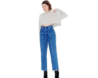 amazing high waisted jeans / xs small 25 26 waist / real horse riding jeans 90s jeans mom jeans ripped jeans distressed jeans