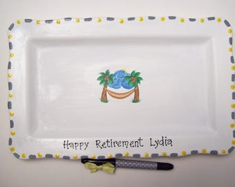 Ceramic Signature Plate for RETIREMENT