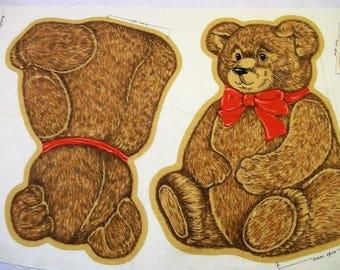 Teddy Bear Pattern, Cut Sew and Stuff Bear, Old Fashion Teddy Bear, Make a Bear, Vintage Fabric, Teddy Bear Fabric