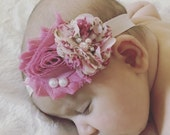Baby Headband..ReadY to Ship.... SALE PRICED...Shabby Chic Collection...YOur Choice of Headband....Newborn Collection...Headband Collection