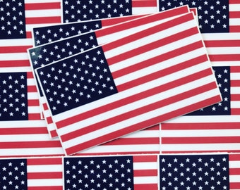 Weatherproof Vinyl Sticker - American Flag - Unique, Fun Sticker for Car, Luggage, Laptop - Artstudio54