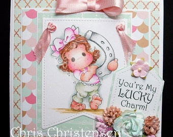 Magnolia Tilda Blank Lucky Charm Any Occasion Card