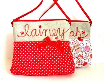 personalized girls purse
