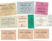 Vintage Assorted Tickets | Australian Shows, Disneyland, Balls, Shows Ephemera | 10 Entrance Tickets for Crafting 1920s - 1950's