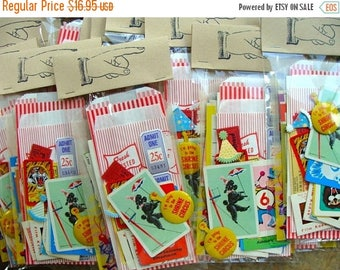 ON SALE Vintage 36 Pc Circus/Carnival/Party pack for Altered Art