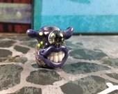 Purple grinning monster bead for dreadlocks