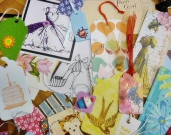 15 GRAB BAG Gift Tag Lot, Handmade Tags,Thank you Tags