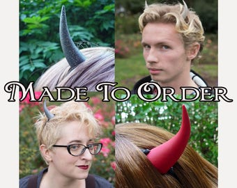 MADE TO ORDER - Devil Horns in your choice of color!