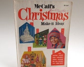 Vintage McCall's Christmas Make it Ideas, DIY, Knitting, Paper Mache, Barbie Clothes, Home Decor, Games, Toys, Patterns,1972, Retro Magazine