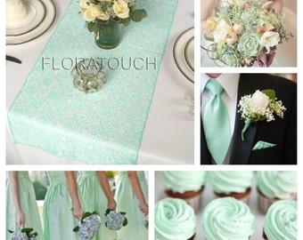 Mint Lace Table Runner Wedding Table Runner