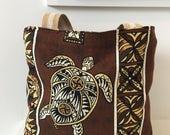 Hawaiian Barkcloth Tote/ Handbag/ Purse