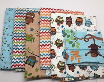 SUMMER Sale - Hooty Hoot Returns - Remnant Bundle  #56 - Doohikey Designs for Riley Blake Designs