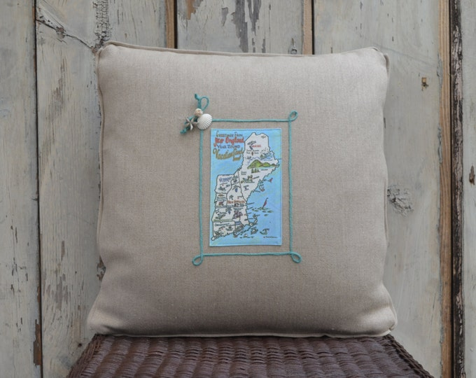New England Postcard Pillow (available in 3 styles)