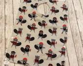 Toddler Pocket Bib | Woodchuck Groundhog Lumberjack Fabric | Perfect for a Little boy