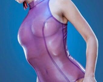 Lady Lucie Latex Esme Sleeveless high neck bodysuit