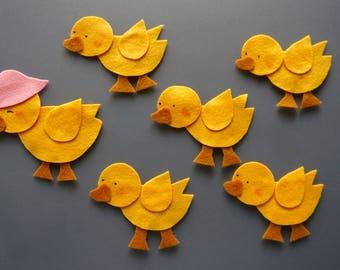 Five Little Ducks Felt Set