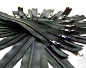 SALE- Wholesale- 100 YKK Brand Zippers- Available in 3,4,5,6,7,8,9,10,12,14,16,18,20 and 22 Inch- Special Price- 100pcs all one color