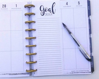 Happy Planner Inserts, Goal Digger List, Goals, Happy Planner List, Planner Inserts, To Do List (12)
