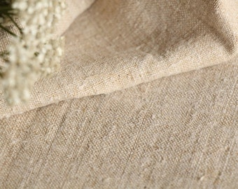 C 385 :  handloomed antique linen plain,OATMEAL 9.07yards 리넨 french lin curtain panel;  wedding, tablecloth, upholstery, roman blinds