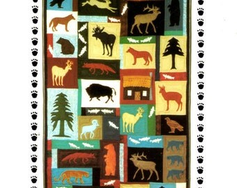 Quilting Pattern - Home On The Range - Native American Animals for Machine Applique - Sewing Pattern