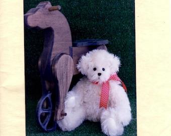 Stuffed Bear Pattern - G. Willikers - Roosevelt Bear Co. - 13 Inch Bear - Bear Doll Making Pattern